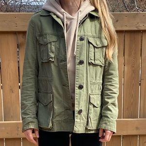 Utility Jacket Olive Green Size S